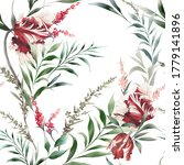 seamless floral pattern with... | Shutterstock . vector #1779141896