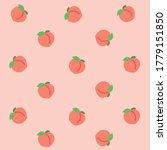sweet peach pink pattern in... | Shutterstock .eps vector #1779151850