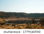 View Of Meteor Crater Lake...