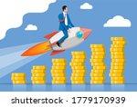 successful business man flying... | Shutterstock . vector #1779170939