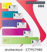 organization chart infographics ... | Shutterstock .eps vector #177917480