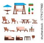 cartoon color different garden...   Shutterstock .eps vector #1779177980