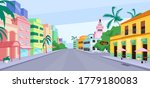 cuba city life flat color... | Shutterstock .eps vector #1779180083