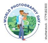 world photography day poster... | Shutterstock .eps vector #1779182303