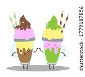 Cute Happy Cream Float Drinks...