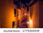 Chiusi  Italy Empty Street...