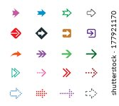set of different arrows signs | Shutterstock .eps vector #177921170