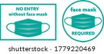 face mask required sign symbols ... | Shutterstock .eps vector #1779220469