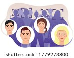 face recognition of people in...   Shutterstock .eps vector #1779273800