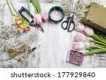 florist workplace  flowers and... | Shutterstock . vector #177929840