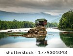 Small House On A Stone On Drina ...
