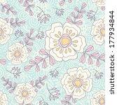 floral seamless pattern.  retro ...   Shutterstock .eps vector #177934844