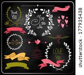 wedding graphic set on... | Shutterstock .eps vector #177935438