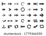 set of black vector arrows... | Shutterstock .eps vector #1779366350