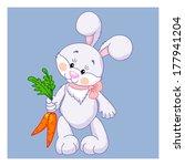 cute cartoon rabbit with carrots | Shutterstock .eps vector #177941204