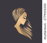 beauty salon logo and hair... | Shutterstock .eps vector #1779431033