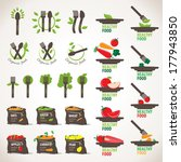 organic  healthy and vegetarian ... | Shutterstock .eps vector #177943850