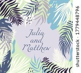 wedding invitation with floral  ... | Shutterstock . vector #1779448796