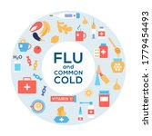 common cold and flu treatment... | Shutterstock .eps vector #1779454493
