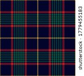 Christmas Plaid Pattern In Red...