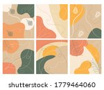 set with abstract spots in...   Shutterstock .eps vector #1779464060