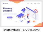 landing page template with man... | Shutterstock .eps vector #1779467090