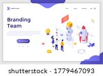landing page template with... | Shutterstock .eps vector #1779467093
