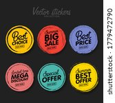 vector set of vintage colorful... | Shutterstock .eps vector #1779472790