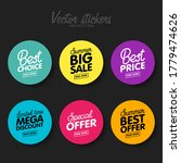 vector set of modern colorful... | Shutterstock .eps vector #1779474626