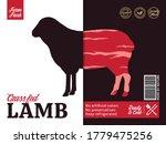 vector lamb packaging or label...   Shutterstock .eps vector #1779475256