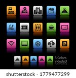 hotel and rentals icons 1 of 2  ... | Shutterstock .eps vector #1779477299