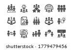 meeting icons set. online... | Shutterstock .eps vector #1779479456