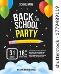 back to school party invitation....   Shutterstock .eps vector #1779489119