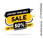 label template mega sale... | Shutterstock .eps vector #1779490406