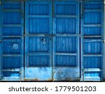 Old Blue Doors With Unique Old...
