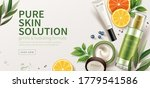 banner ad for natural beauty... | Shutterstock .eps vector #1779541586