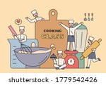 characters in chef uniforms are ... | Shutterstock .eps vector #1779542426