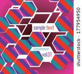 abstract colorful hexagonal... | Shutterstock .eps vector #177954950