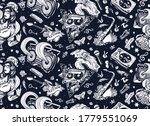 retro music seamless pattern.... | Shutterstock .eps vector #1779551069