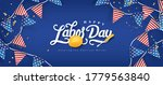 labor day banner template decor ... | Shutterstock .eps vector #1779563840