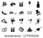 set of black silhouette icons... | Shutterstock .eps vector #177959228