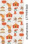 seamless circus pattern design. ... | Shutterstock .eps vector #177959360