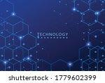 modern hexagon technology... | Shutterstock .eps vector #1779602399