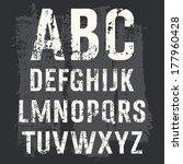 grunge alphabet vector set for... | Shutterstock .eps vector #177960428