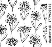 brush flower vector seamless...   Shutterstock .eps vector #1779609686