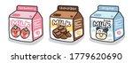 set of cute milk box on white... | Shutterstock .eps vector #1779620690