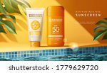 sunscreen ad template with... | Shutterstock . vector #1779629720