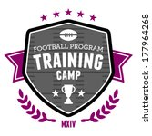 sports football training camp... | Shutterstock . vector #177964268
