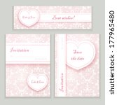 wedding cards set   Shutterstock .eps vector #177965480