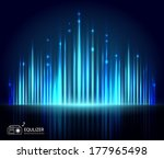 light equalizer abstract... | Shutterstock .eps vector #177965498